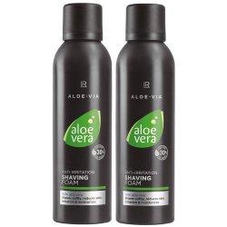 LR Aloe VIA Aloe Vera Men Hautberuhigender Rasierschaum Shaving Foam 2x 200ml