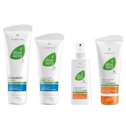 LR Aloe Via Aloe Vera Haar & Körper Set Shampoo 200ml, Haarkur 150ml, Haar & Köpershampoo 250ml, Körperlotion 200ml