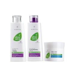 LR ALOE VIA Aloe Vera Gesichtspflege-Set (Gesichtswasser, Reinigungsmilch & Hautcreme)
