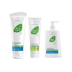 LR ALOE VIA Aloe Vera Hygiene-Set (250ml Shampoo, 250ml Handseife, 100ml Zahngel)