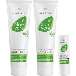 LR ALOE VIA Aloe Vera Mund- & Zahnpflegeset (2x Zahngel und 1x Lippenpflegestift)